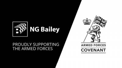 NG Bailey signs the Armed Forces Covenant