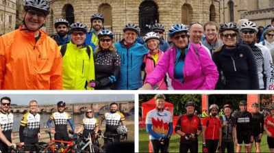Taking to two wheels to boost charity funds
