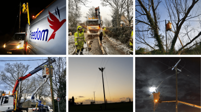 Freedom teams brave extreme weather to restore power supplies following Storm Ciara