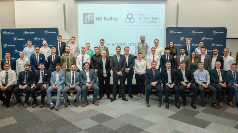 NG Bailey apprentices celebrate their achievements at graduation ceremony