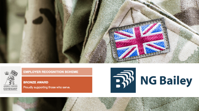 NG Bailey receives Defence Employer Recognition Scheme Bronze award